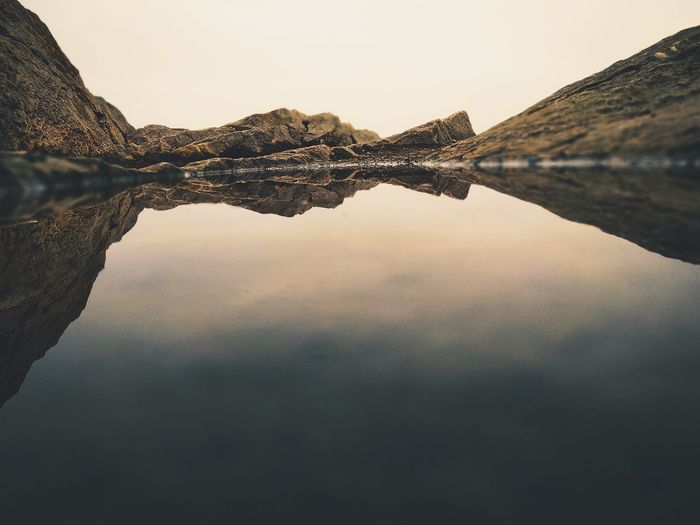 Mountain Lake Symmetry Reflection Standing Water Sky First Eyeem Photo