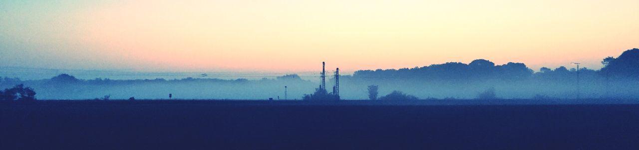 Fog Foggy Landscape Early Morning Railway