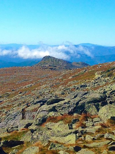 The view near the summit of Mt Washington. Great day for a hike despite the 70 mph winds!! Nature On A Hike Hiking Beautiful Adventure Outdoors