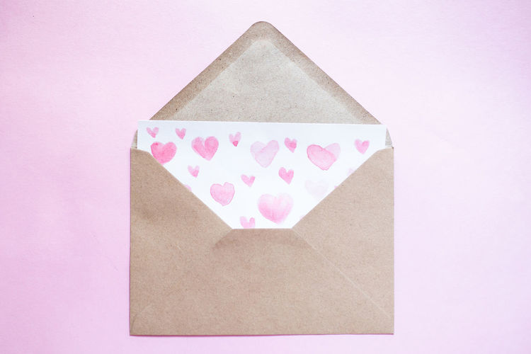 Close-up of heart shape made on paper