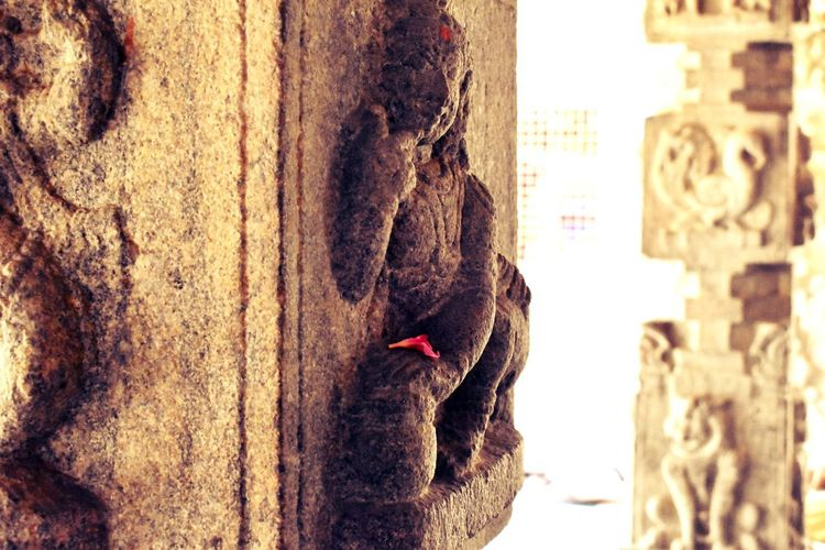 Indian temple old sculpture. Sculpting A Perfect Body Historical IndianArtist City Close-up Architecture Building Exterior Built Structure Weathered