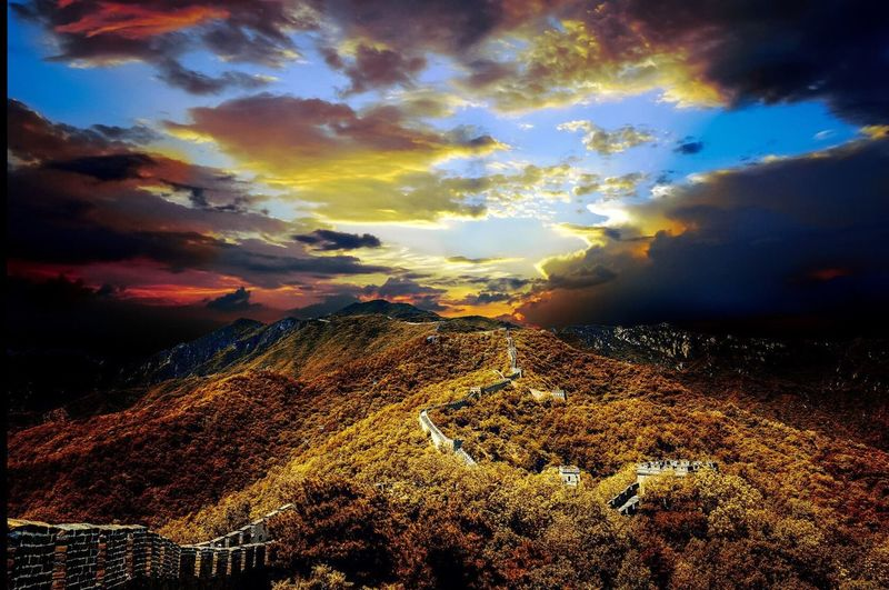 China Beijing great mountain Beauty In Nature Sunset Landscape Unesco mutainyu Karl Girardet kgphotography Cloud - Sky