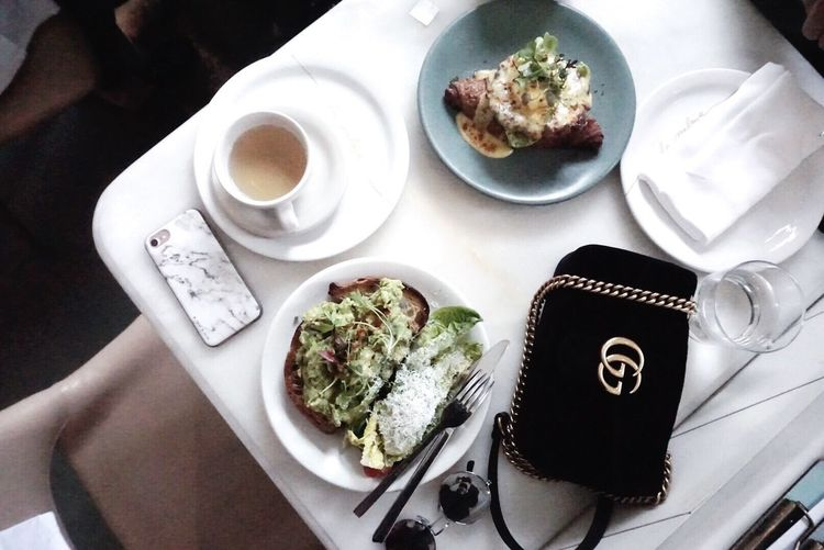 Saturday brunch;) Toronto Torontophotographer Toronto Canada p Food And Drink Table Plate Food Freshness Eating Utensil Cup Ready-to-eat Coffee Mug Drink Coffee Cup High Angle View Kitchen Utensil Refreshment Wellbeing Coffee - Drink Indoors  Healthy Eating Human Hand