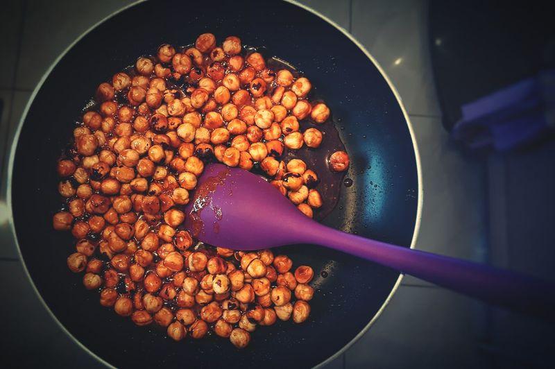 Close-Up Of Caramelized Hazelnut