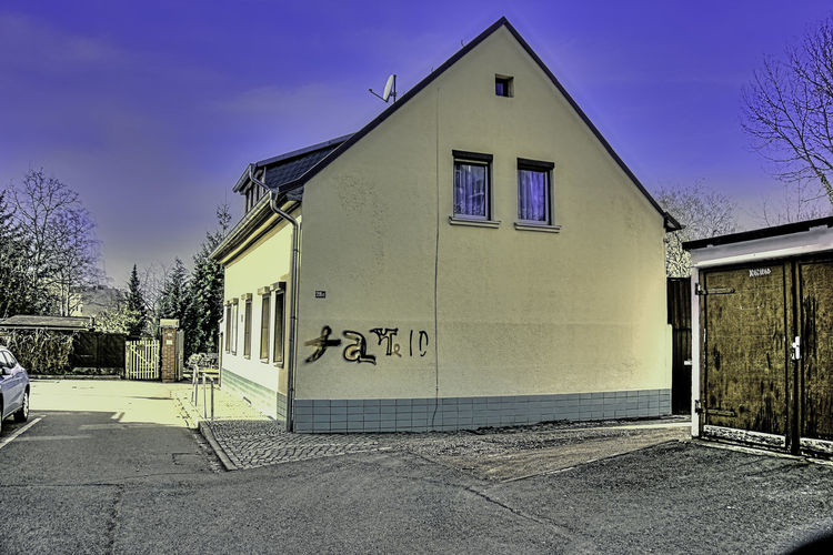 Unser Haus in Halle Anno 1891 Architecture Building Exterior Day House No People Outdoors Sky Sunset