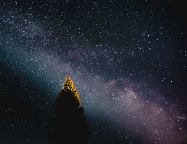 Milky Way above