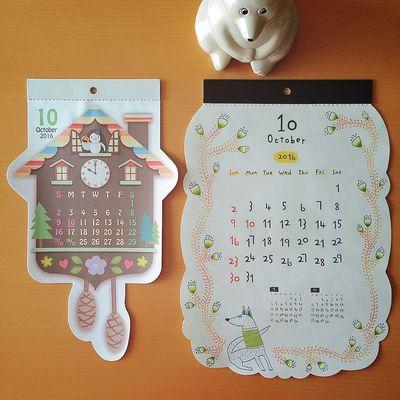 October よろしくオクトーバー🎃👻 10月 オクトーバー October カレンダー Calendar しろくま貯金箱 北欧 北欧雑貨 ぬいどり ぬい撮り