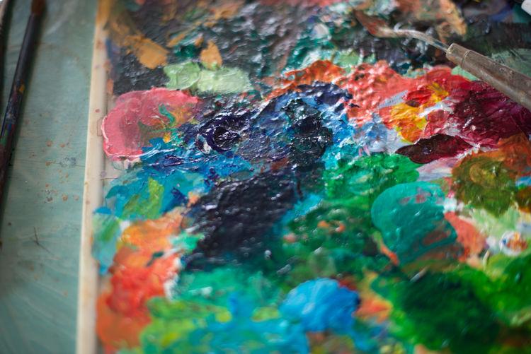 Close-Up Of Palette