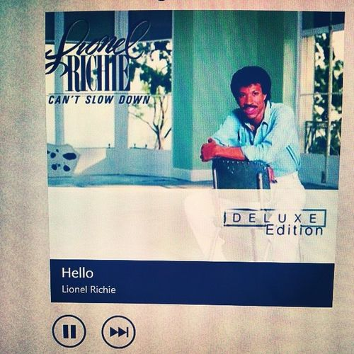 Hello? Is it me you're looking for? Let me start by saying, I love you. HotMenOfThe80s Lionelrichie