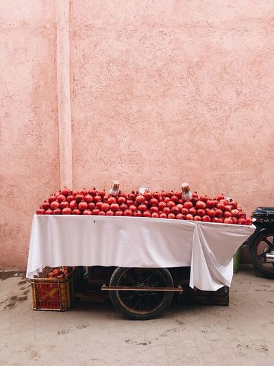 Pomegranate on market stall