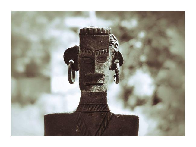 Statue Tribe Tribals Cepia