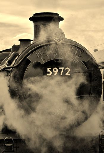 taken at tyseley loco works last year Check This Out Express Followme Harry Potter Harry Potter ⚡ Harrypotter Hogwarts Hogwarts Express Hogwartsexpress Magic Magical Monochrome Movie Time Movies Nikon D3200 No People Sepia Steam Steam Locomotive Steam Trains Taking Photos Train Travel Photography WOW