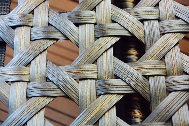 Full Frame Shot Of Wicker Bed