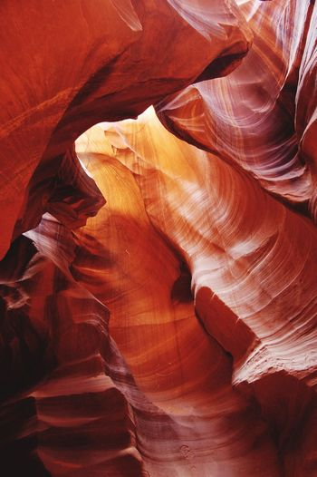 Antelope Canyon Traveling Creative Light And Shadow Lines And Shapes No People Travel Photography EyeEm Nature Lover Beauty Of Nature Nature Photography Naturelovers Nature_collection Nature_perfection Red Light And Shadow Rock Formation USA Natural Pattern Colour Of Life Color Palette Perspectives On Nature