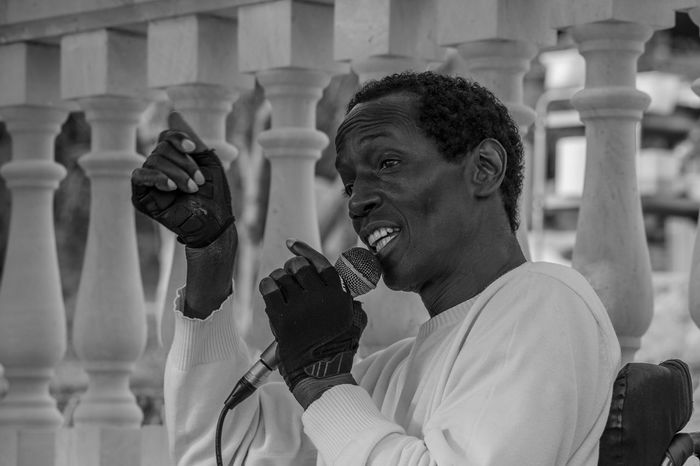 Black And White Black People Charles Role Concert Leisure Activity Live Live Music Mallorca Musician One Person Peguera People Real People Singer