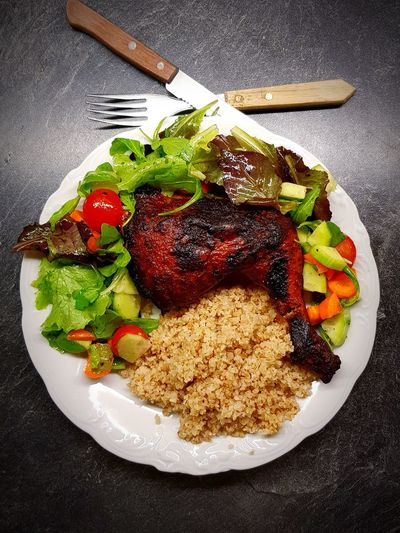 pollo asado Central America Grilled Charred Chıcken Pollo Asado Carne Mexican Food Cuisine Bright Colors Real Food Kitchen Heritage Food Colorful Protein Homemade Plate Table High Angle View Close-up Food And Drink Serving Dish Prepared Food Cooked Served Salad Dish Temptation