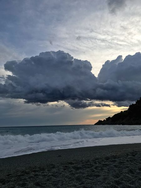 Spiaggia di Bonassola (SP) Sea Beach Beauty In Nature Nature Sky Water Scenics Tranquility No People Cloud - Sky Tranquil Scene Sand Outdoors Horizon Over Water Sunset Day Italy Spezia Bonassola