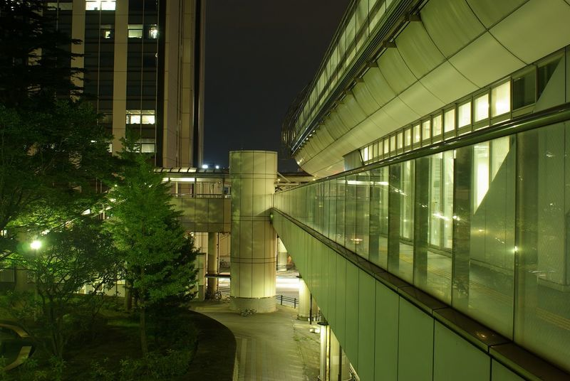 Night Illuminated Tree City Business Finance And Industry Architecture Bridge - Man Made Structure Built Structure No People Outdoors Sky Wark Street Misterious Light Drifts