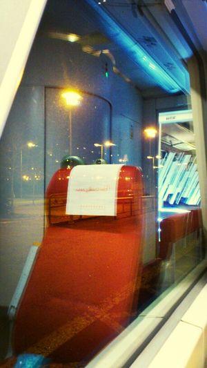 Commuting Train Night Lights Public Transportation