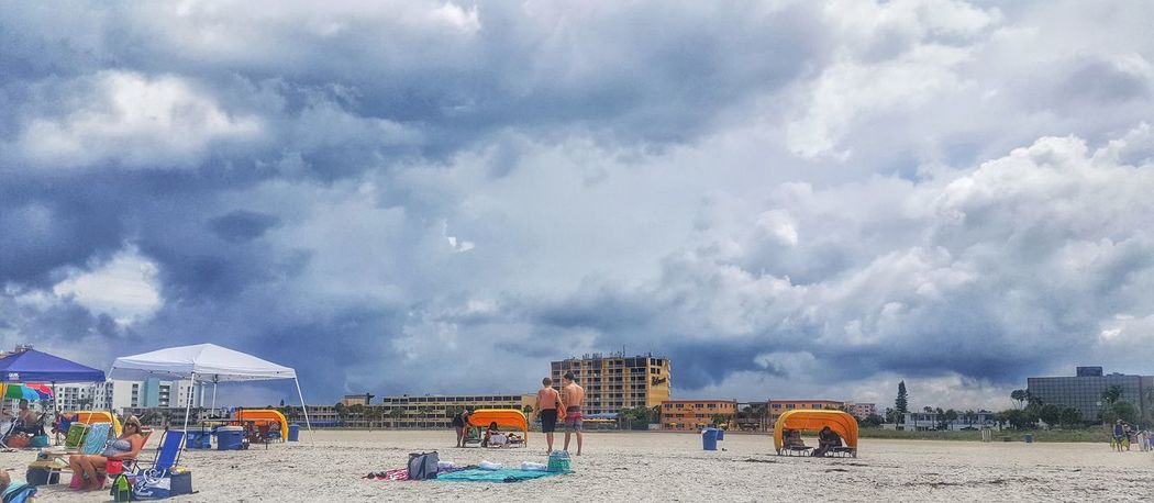 Sky Cloud - Sky Horizontal Outdoors Travel Destinations Nature No People Day Architecture People Beach Colorful Clouds Blue Sea Florida Summer Storm Perspective Ocean Gulf Coast Umbrella Sand Bird Sunset m