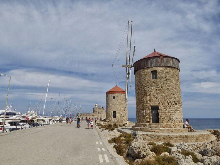 Rhodes Rhodos Rhodos, Greece  Ródos Rodos Greece Greece GREECE ♥♥ Windmills Windmill