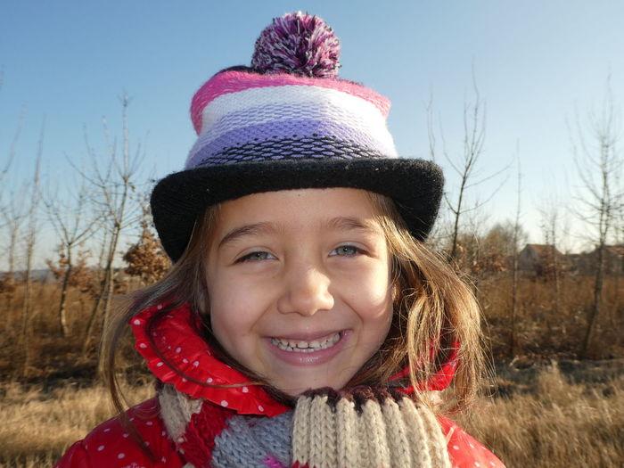 portrayal (portrait) A Daughters Love Beautiful Cold Happy Nature Portrait Smile Sunshine