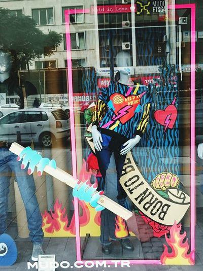 Womensfashion Women Style Women Clothes Casual Clothing Clothesporn Sweatshirt Pink Frame In The Window Windowshopping Windowshopper Lovely Wild At Heart Wild Heart Window Decor Window Decorations Izmirlife Fashion Reflection Reflections
