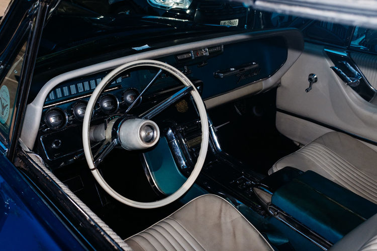 High angle view of vintage car