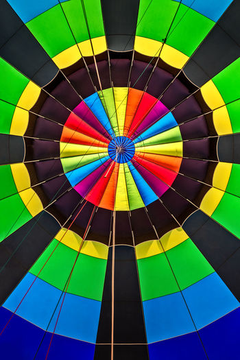 Full frame shot of multi colored hot air balloon