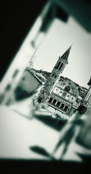 Photography Themes Tranquility Outdoors Day Black And White Church Spoleto-Umbria <3