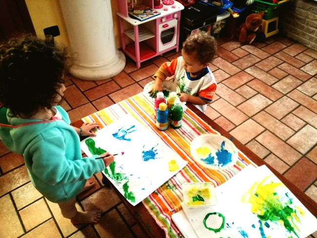 Two People Togetherness Childhood High Angle View Child Picoftheday 2017 Babyboy ❤ AuntieTime Dayoff Paint Drawing Colors Artattack Nephew ♡ Multi Colored Human Body Part Niece & Nephew Niece 💕 Art Is Everywhere Colors Are Everywhere