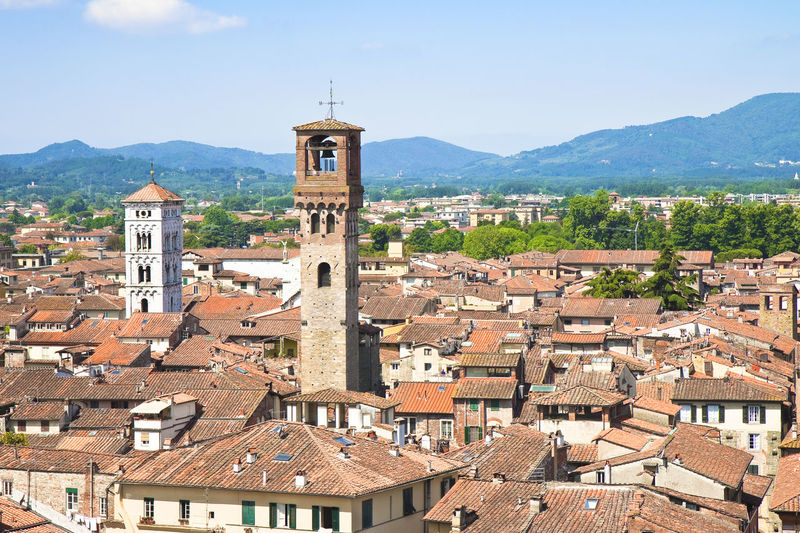 Lucca City Lucca Italy Italy Tuscany Stone Tower Stone Tower Italy Italian Bell Tower Italian Tower Stone Bell Tower