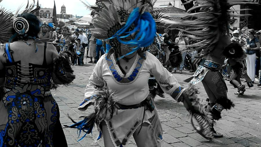Blue Person Womans Dancing Outdoors Day Retail  People Black And Blue Mexico Perspective Movement Design Antropology