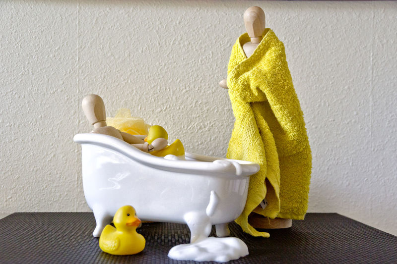 Badespass Bath Time The Still Life Photographer - 2018 EyeEm Awards Bathroom Clean Close-up Foam Group Of Objects Hygiene Indoors  No People Representation Rubber Duck Still Life Toy White Color Yellow