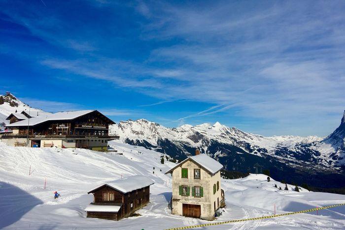Architecture Snow ❄ Blue Sky Cloud And Sky Kleine Scheidegg Jungfrau - Top Of Europe 🇨🇭 Switzerland