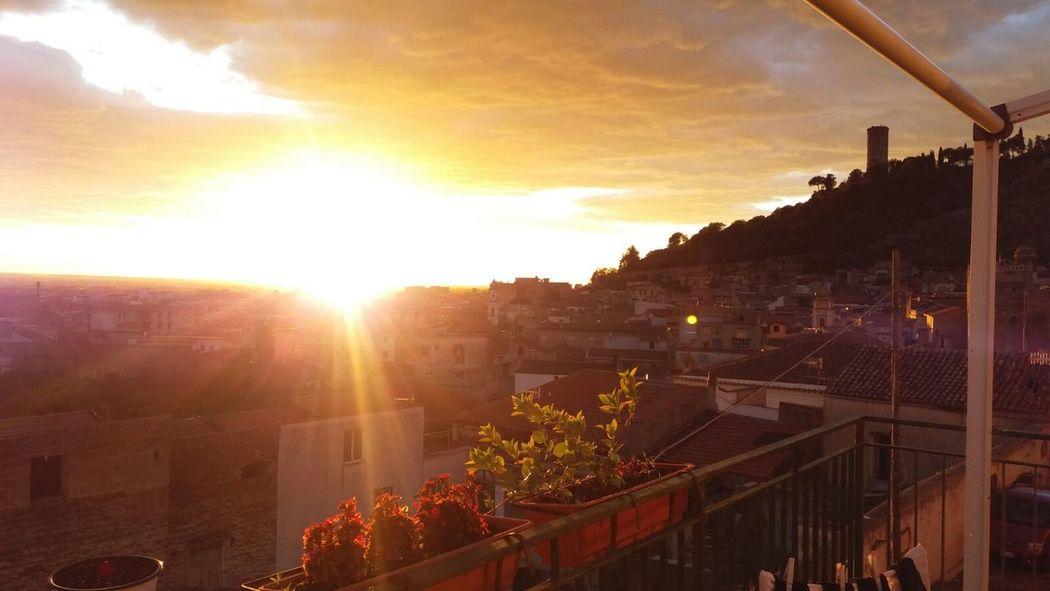 Sun Sunset Sunlight No People City Day Nature