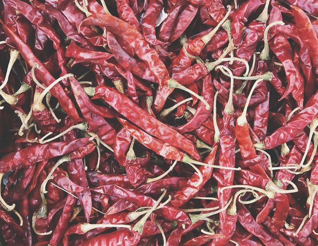 Group of red dried chili pepper Vegetable Pile Dry Spice Chilly Organic Hot Vintage Cook  Kitchen Ingredient Seasoning Abstract Background Chilli Spicy Thai Red Red Full Frame No People Backgrounds Food And Drink Close-up Food Abundance Pattern High Angle View