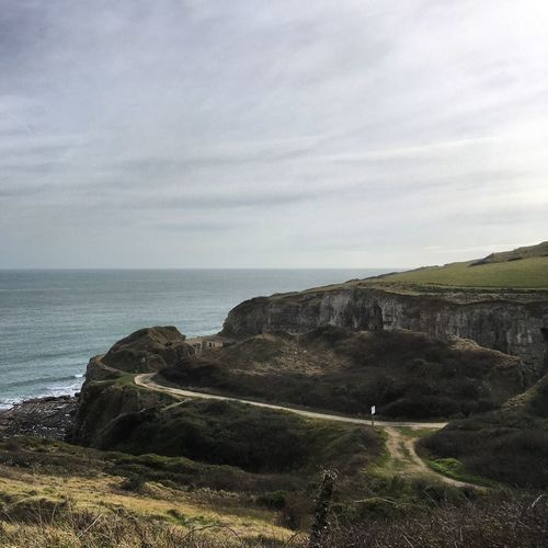 The old abandoned quarry Followthepath Path Rollinghills View Countryside Winspit Worth Matravers Hills Hill Landscape Dog Walking Purbecks Purbeck Dorset Quarry