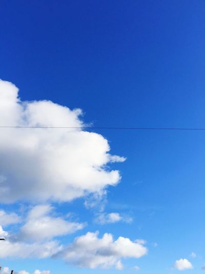 When the British weather defies expectations, capture it 🌤 Britishweather Sunny Day Clouds And Sky Blue Sky Fresh Morning Sky English Countryside West Yorkshire Keighley First Eyeem Photo Telephone Lines