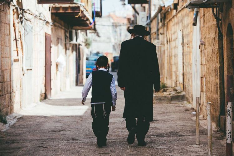 Two People Full Length Rear View Day Adult Senior Adult Outdoors Community Men People Togetherness Adults Only EyeEm Gallery EyeEm Best Shots Bestoftheday EyeEm EyeEmBestPics Jewish Shabbatshalom Jerusalem Israel Walk Walking Walk This Way Real People Best EyeEm Shot