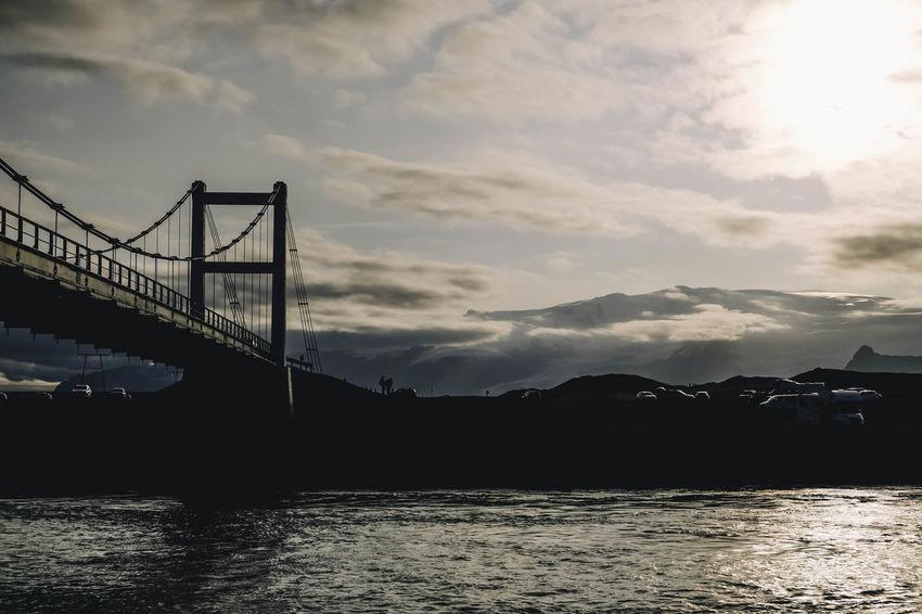 Bridge over the Glacier Lagoon. 2017 Bridge Over Water Iceland Jokulsarlon Glacier Jökulsárlón Architecture Bridge - Man Made Structure Bridge Over Canal Built Structure Glacier Lagoon Jökulsárlón Beach Outdoors Travel Destinations Water