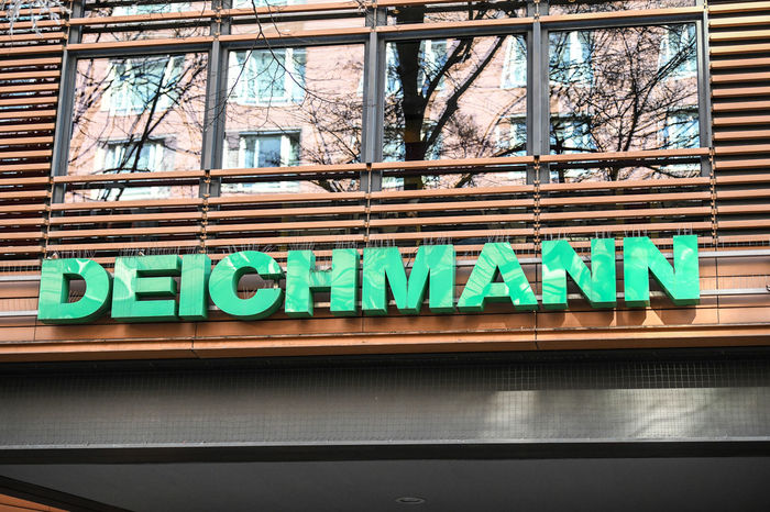 Berlin, Germany - February 15, 2018: Deichmann store exterior. With around 3800 stores, Deichmann sells an extensive range of branded shoes throughout Germany Fashion Logo Shoe Shopping Shoe Shop Shoe Store Shoes Shop Shopping Signage Brand Commerce Commercial Deichmann Editorial  Retail  Shoes Store Shop Signboard Store