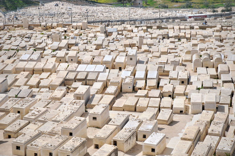 Cemetery Architecture Block Shape Building Exterior Built Structure Day Graves Graveyard In A Row Israel Jerusalem No People Outdoors Sunlight