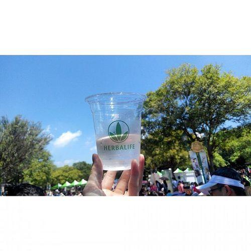 六福村 ing 走一步路都會滴汗的天氣 打卡 免費蘆薈汁