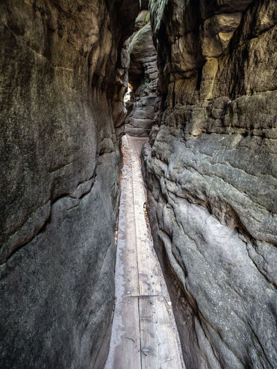 Rock formations in a cave