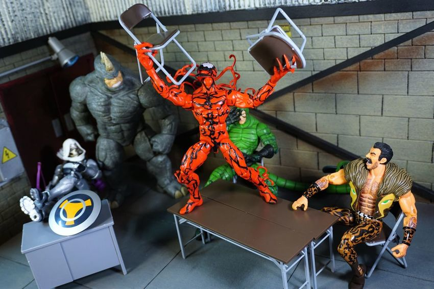 Outburst Tantrum Carnage Rhino Scorpion Actionfigure Marvellegends Toys Toyphotography Actionfigures ACBA Marvel Comic Action Figures Villains  Diorama Taskmaster Kraven