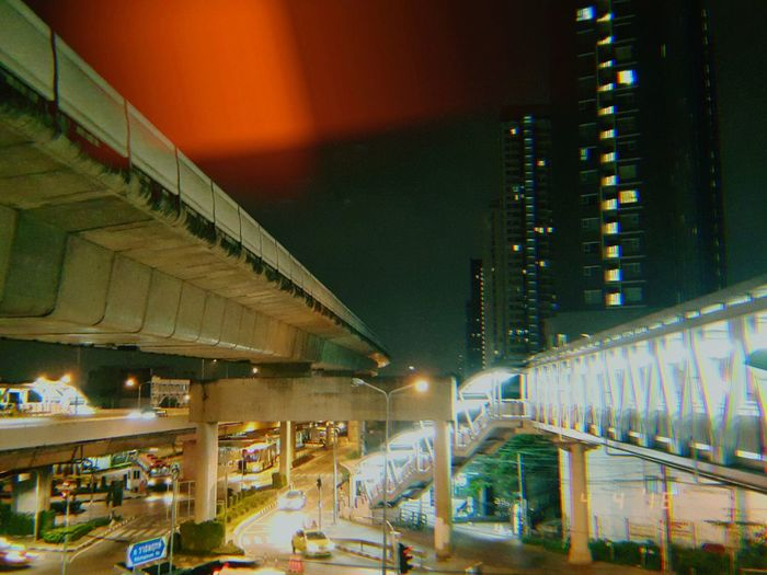 night Kujicam EyeEm Selects Film Photography Filmisnotdead Nightphotography EyeEmNewHere City Illuminated Neon Supermarket Business Finance And Industry Road Architecture Built Structure Building Exterior Railway Bridge Railroad Station Platform Moving Public Transportation