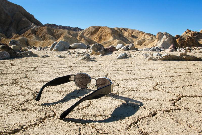 Shadow of rocks on arid landscape
