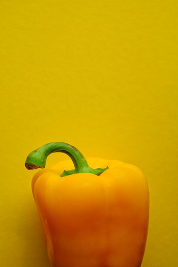 yellow pepper on yellow background Copy Space Diet Seasonal Food Vegetarian Food Yellow Pepper Background Backgrounds Cheerful Close-up Colorful Energy Food Healthy Eating Healthy Food Ingredient Minimalism Nutrition Pepper Still Life Studio Shot Vegetable Vegetables Vitamin Yellow Yellow Background
