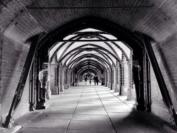 Berlin Warschauerbrücke Black And White